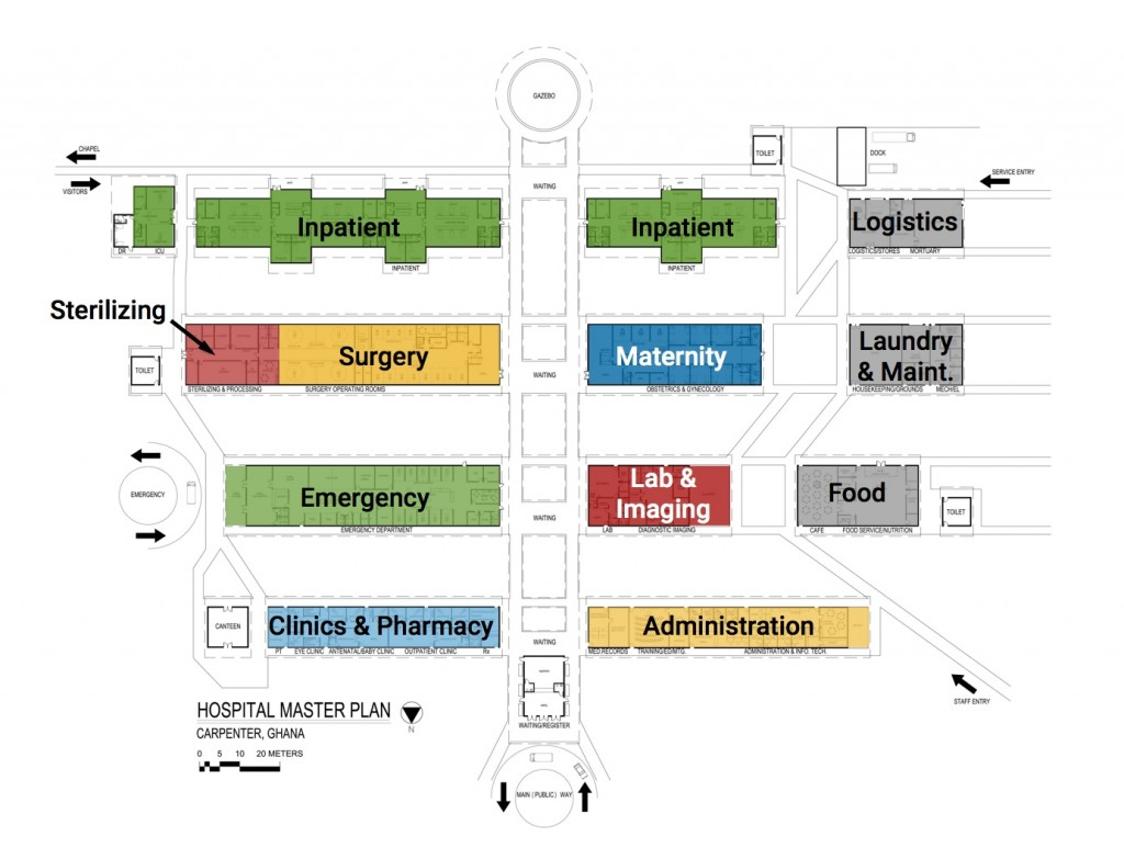Hospital services and locations