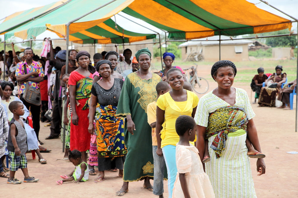 Lineups to see a physician are long at our annual health team clinics. Nearly 1,000 patients visit daily.